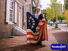 Betsy Ross House in Philadelphia, Pennsylvania, USA.
