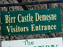 Birr Castle entrance sign