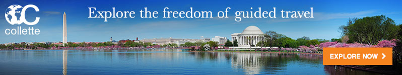 Explore the freedom of guided travel.  Collette.  Explore Now.  Click here to visit www.gocollette.com