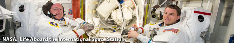 NASA.  Life aboard the International Space Station.  Find out about what it is like to travel to and live in space.  Click here to visit www.nasa.gov