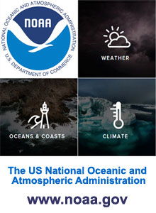 National Oceanic and Atmospheric Administration.  U.S. Department of Commerce.  Get up to date information on weather, climate, oceans and coasts.  Click here to visit www.noaa.gov