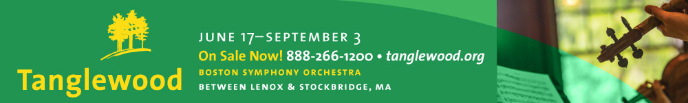 The Boston Symphony Orchestra Tanglewood 2016 season June 17 - September 3.  On Sale Now!  Click here to visit www.tanglewood.org