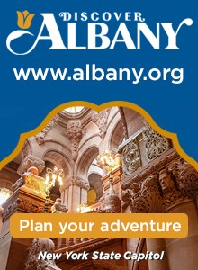 Discover Albany.  Plan your adventure.  New York State Capitol.  Click here to visit www.albany.com