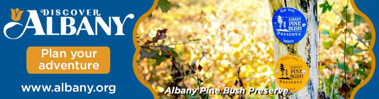 Discover Albany.  Plan your adventure.  Albany Pine Bush Preserve.  Click here to visit www.albany.com